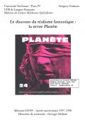 """Mon mémoire de Maîtrise """"La revue Planète et le Réalisme fantastique"""", Lettres Modernes Spécialisées, Sorbonne Paris IV, en 1998"""